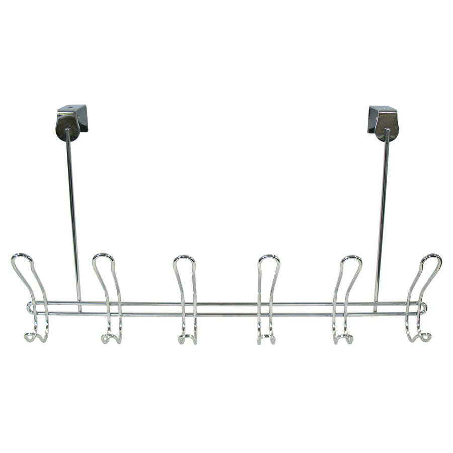 interDesign Chrome Classico Xt Over Door Rack 6