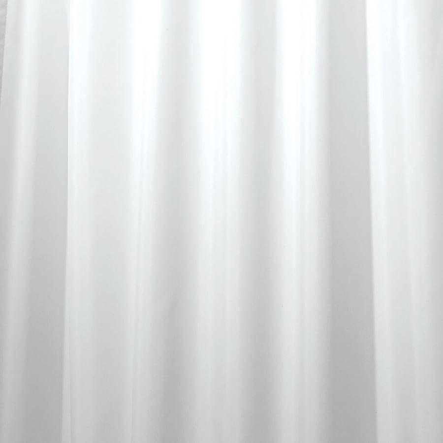 interDesign Polyester White Solid Shower Curtain