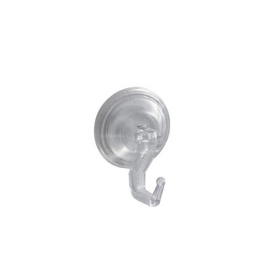 interDesign 2-Pack Clear Suction Cup Hooks