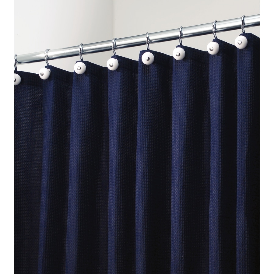 shop interdesign york polyester navy with a waffle weave texture