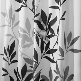 interdesign leaves polyester yellow and gray leaves patterned shower curtain