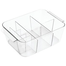 interdesign clear plastic vanity tray