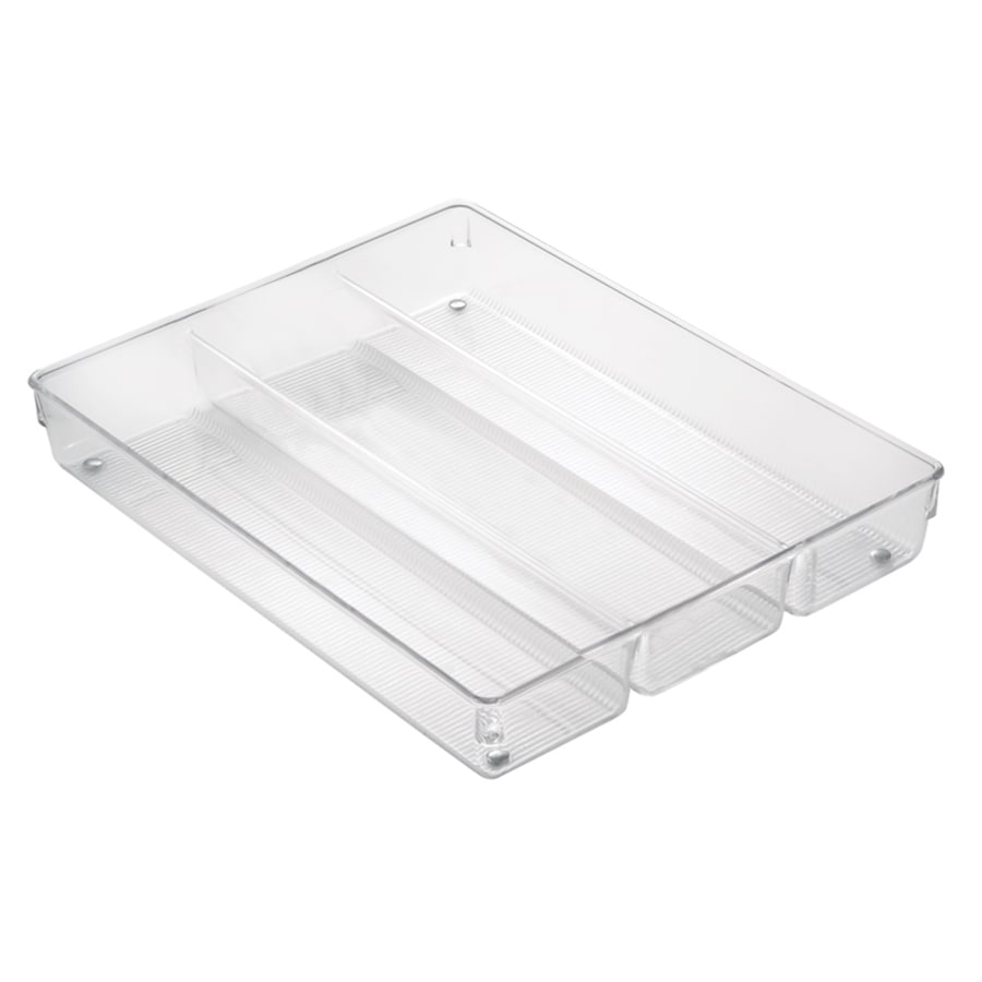 interDesign 13.8-in x 10.6-in Plastic Cutlery Insert Drawer Organizer
