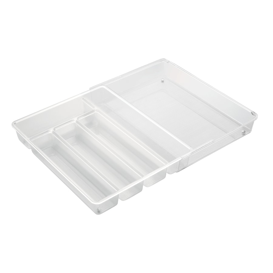interDesign 14.26-in x 11.41-in Plastic Cutlery Insert Drawer Organizer