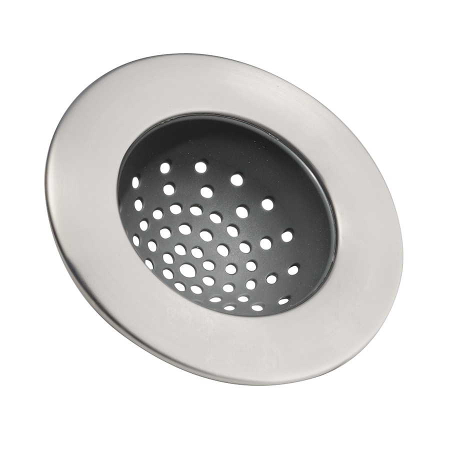 interdesign 0-in polished stainless steel kitchen sink strainer basket at lowes