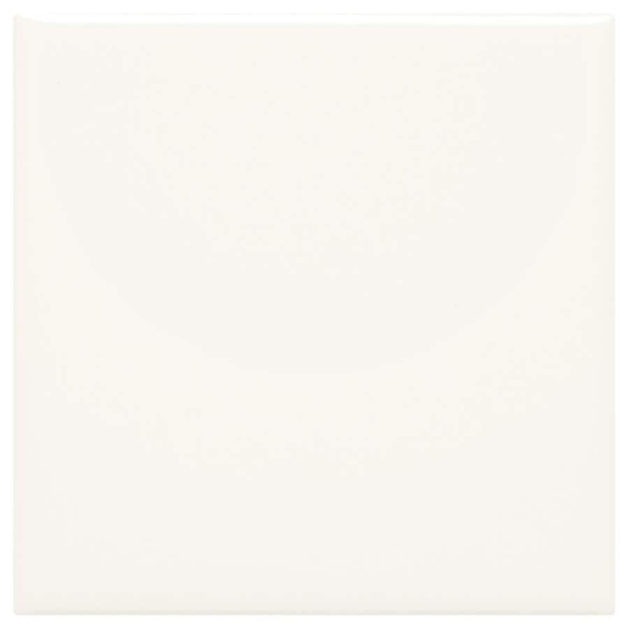 American Olean Starting Line White Gloss Ceramic Wall Tile (Common: 4-in x 4-in; Actual: 4.25-in x 4.25-in)