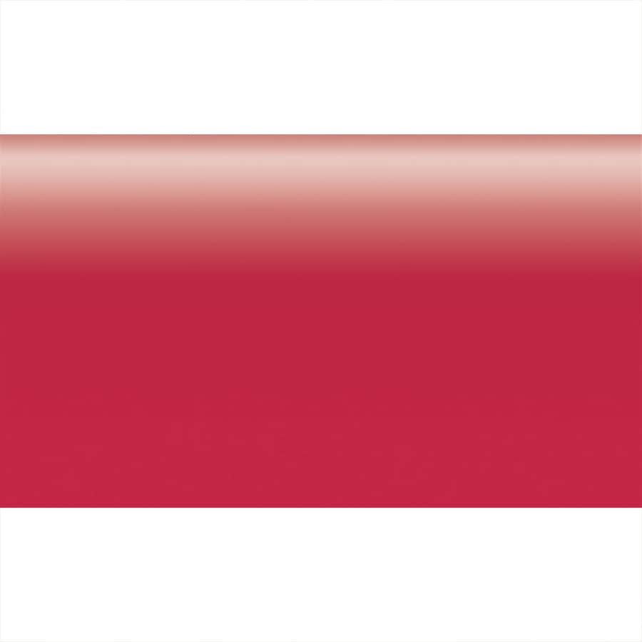 American Olean Bright Ruby Red Ceramic Bullnose Tile (Common: 2-in x 6-in; Actual: 2-in x 6-in)