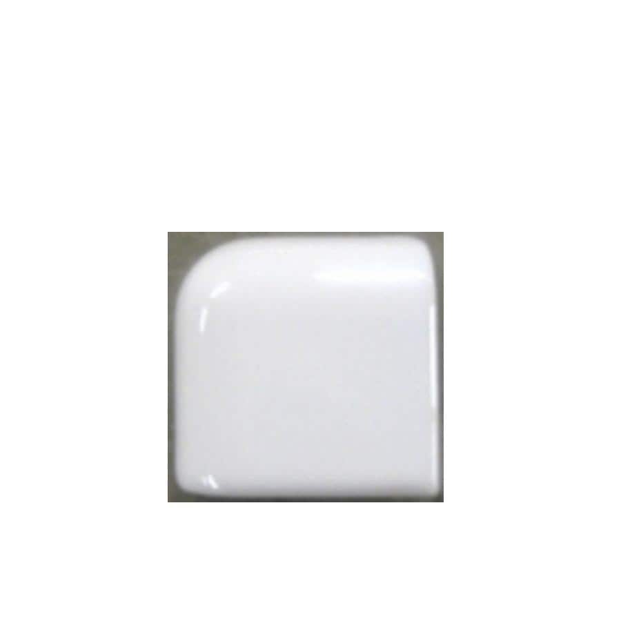 Shop american olean bright ice white gloss ceramic mud cap corner american olean bright ice white gloss ceramic mud cap corner tile common 2 dailygadgetfo Choice Image