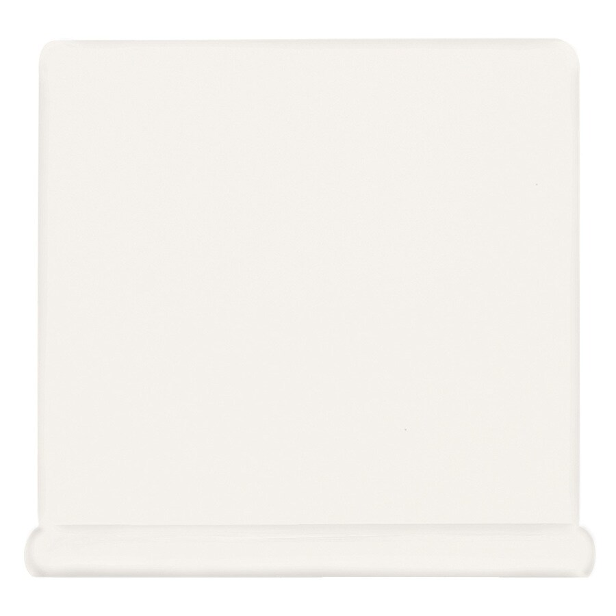 American Olean Bright Ice White Ceramic Cove Base Tile (Common: 6-in x 6-in; Actual: 6-in x 6-in)