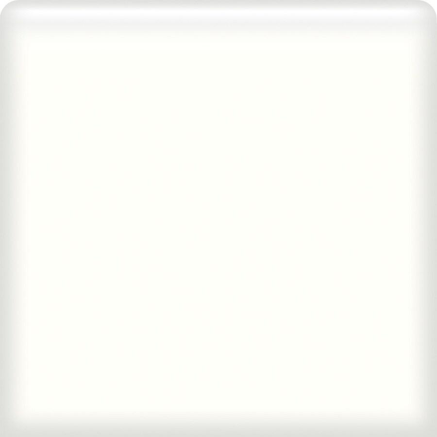 American Olean Bright Ice White Ceramic Bullnose Tile (Common: 6-in x 6-in; Actual: 6-in x 6-in)