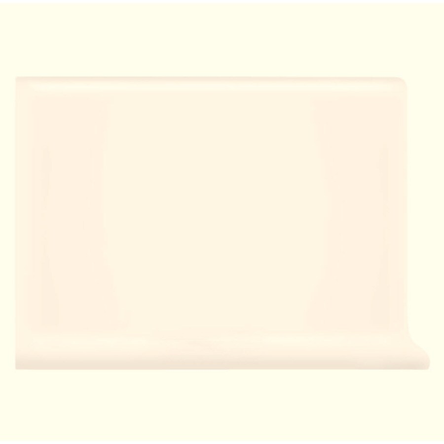 American Olean Bright Ice White Ceramic Cove Base Tile (Common: 4-in x 6-in; Actual: 4.25-in x 6-in)