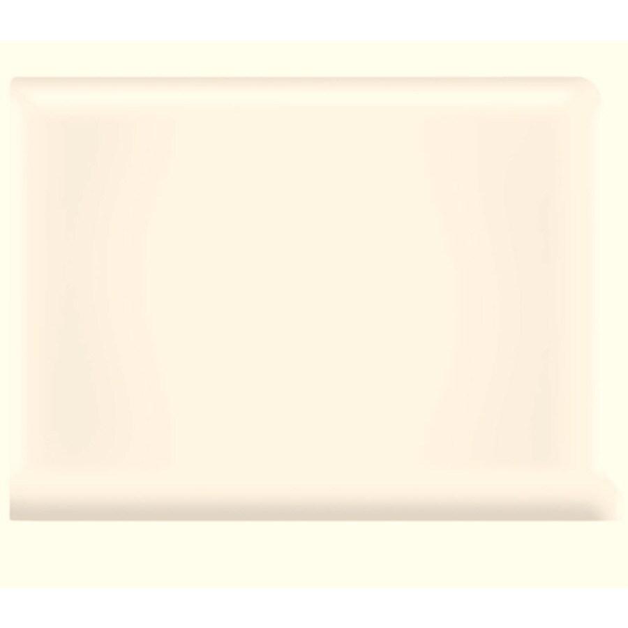 American Olean Bright Ice White Ceramic Cove Base Tile (Common: 6-in x 6-in; Actual: 6-in x 6-in)
