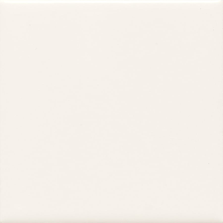 American Olean Bright Ice White Ceramic Bullnose Corner Tile (Common: 4-in x 4-in; Actual: 4.25-in x 4.25-in)
