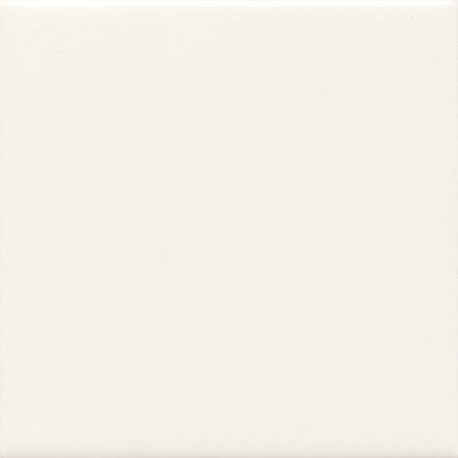 American Olean Bright Ice White Ceramic Bullnose Corner Tile (Common: 6-in x 6-in; Actual: 6-in x 6-in)