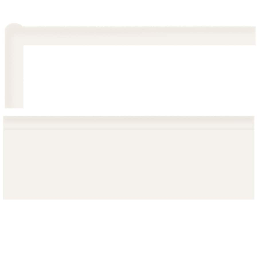 American Olean Bright Ice White Gloss Ceramic Mud Cap Tile (Common: 2-in x 6-in; Actual: 2-in x 6-in)