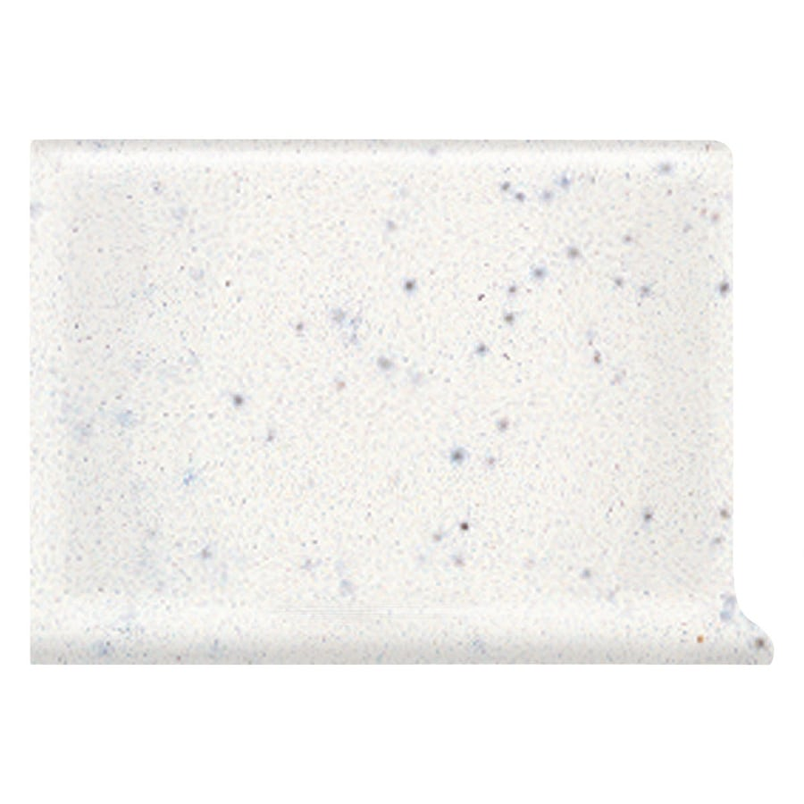 American Olean Bright Salt & Pepper Ceramic Cove Base Tile (Common: 4-in x 6-in; Actual: 4.25-in x 6-in)