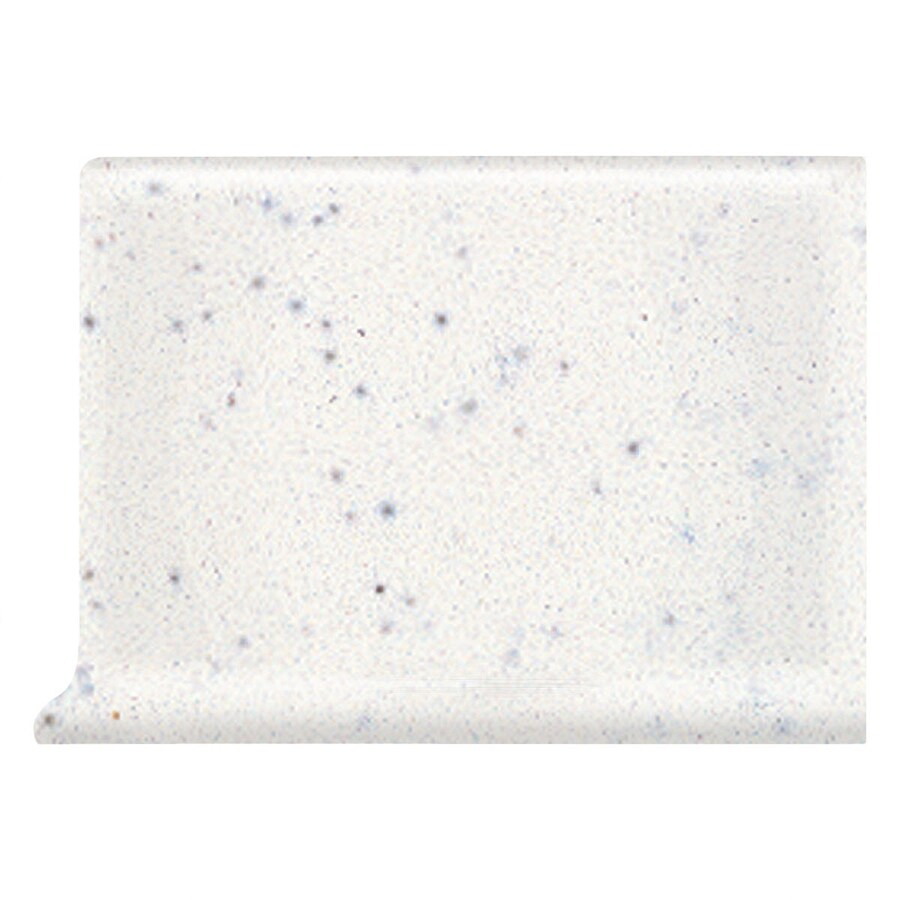 American Olean Bright Salt and Pepper Ceramic Cove Base Tile (Common: 4-in x 6-in; Actual: 4.25-in x 6-in)