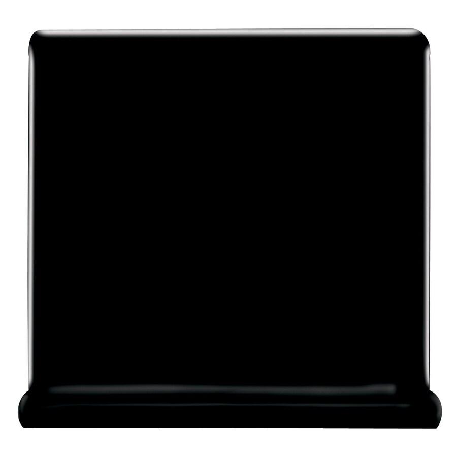 American Olean Bright Gloss Black Ceramic Cove Base Tile (Common: 4-in x 4-in; Actual: 4.25-in x 4.25-in)