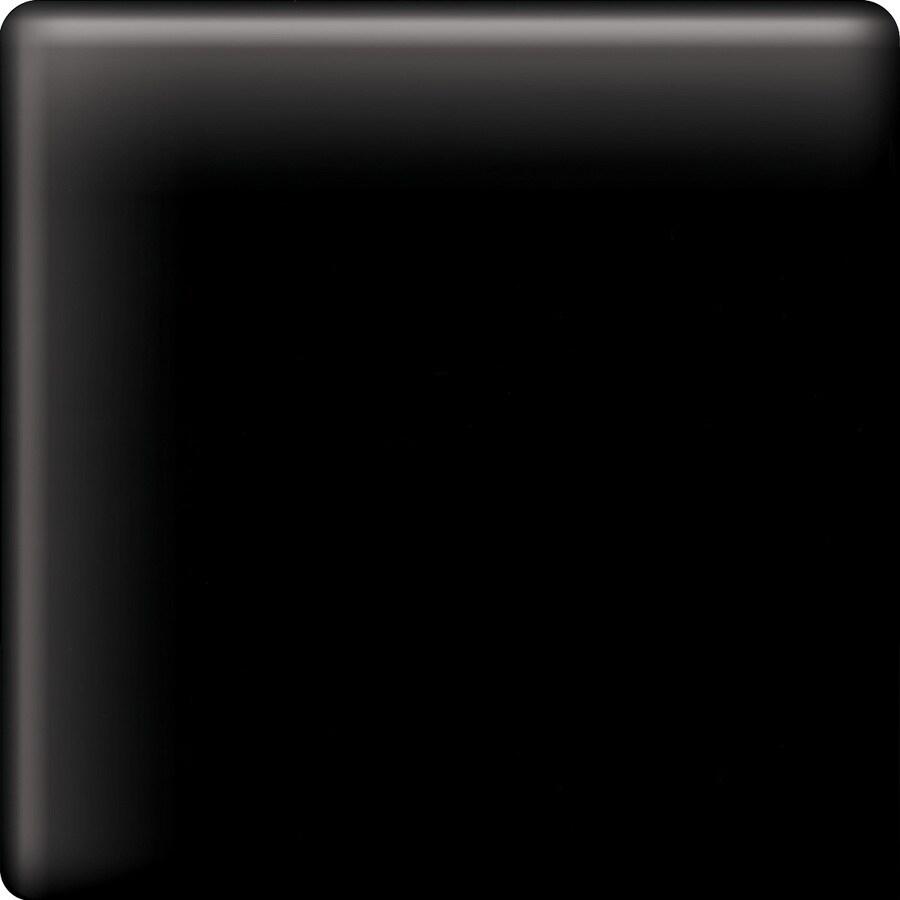 American Olean Bright Gloss Black Ceramic Mud Cap Corner Tile (Common: 2-in x 2-in; Actual: 2-in x 2-in)