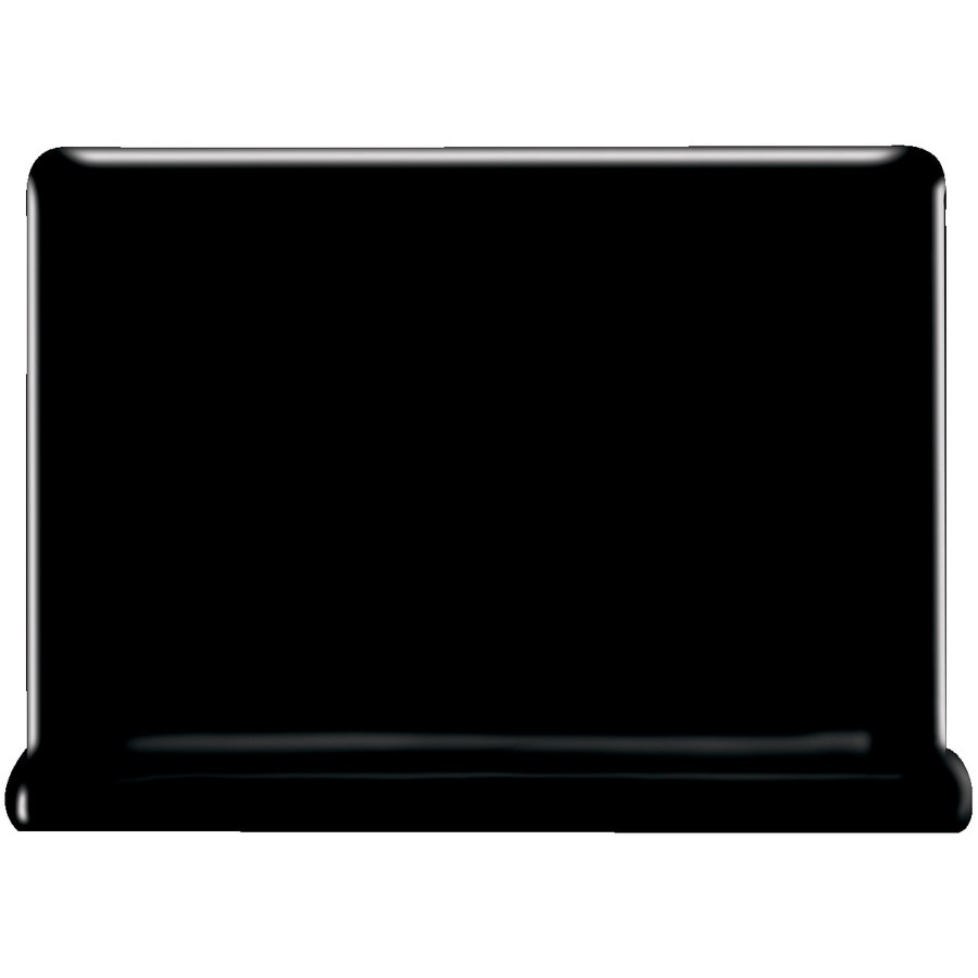 American Olean Bright Gloss Black Ceramic Cove Base Tile (Common: 4-in x 6-in; Actual: 4.25-in x 6-in)