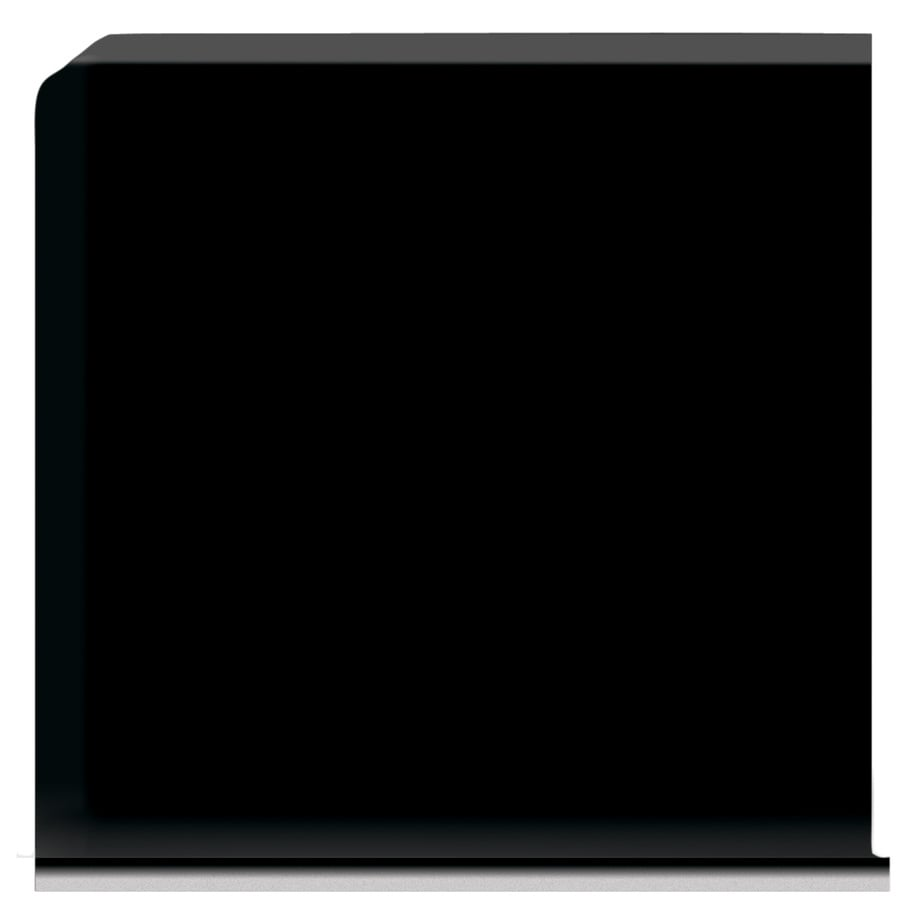 American Olean Bright Gloss Black Ceramic Cove Base Tile (Common: 6-in x 6-in; Actual: 6-in x 6-in)