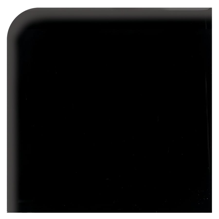 American Olean Bright Gloss Black Ceramic Bullnose Corner Tile (Common: 6-in x 6-in; Actual: 6-in x 6-in)