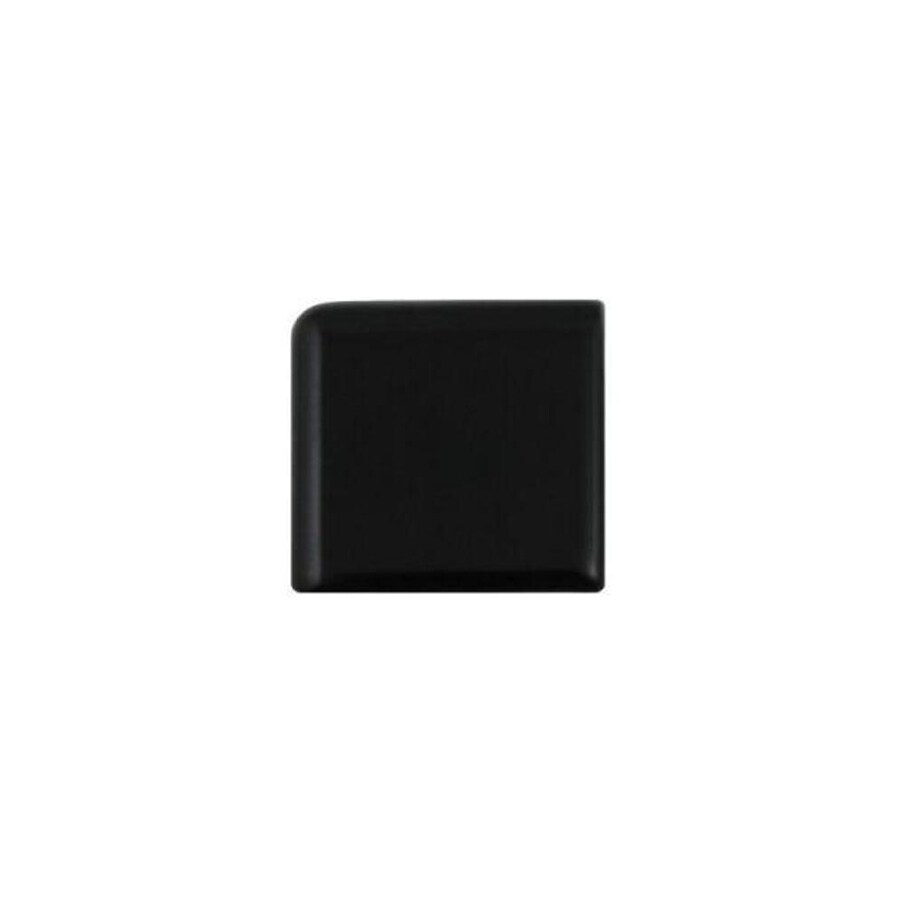American Olean Bright Gloss Black Ceramic Bullnose Corner Tile (Common: 2-in x 2-in; Actual: 2-in x 2-in)