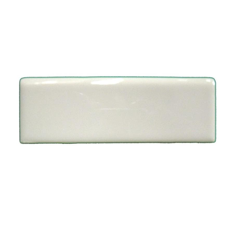 American Olean Starting Line Gloss Biscuit Ceramic Mud Cap Tile (Common: 2-in x 6-in; Actual: 2-in x 6-in)