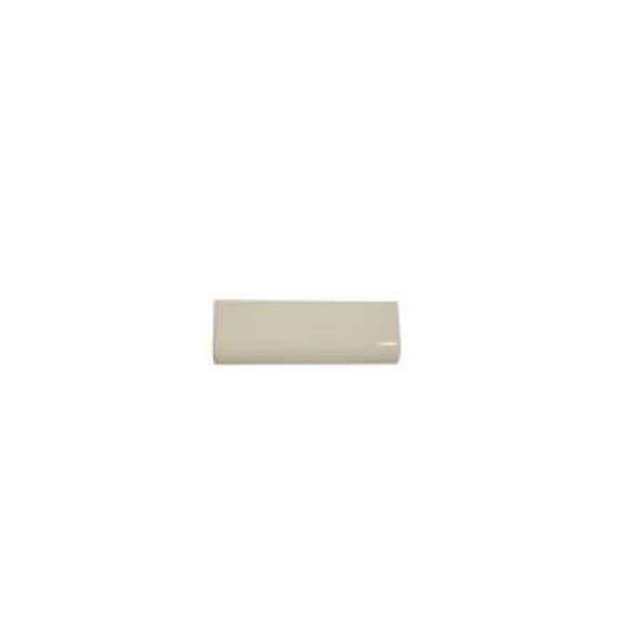 American Olean Starting Line Biscuit Gloss Ceramic Cove Base Tile (Common: 4-in x 6-in; Actual: 4.25-in x 6-in)