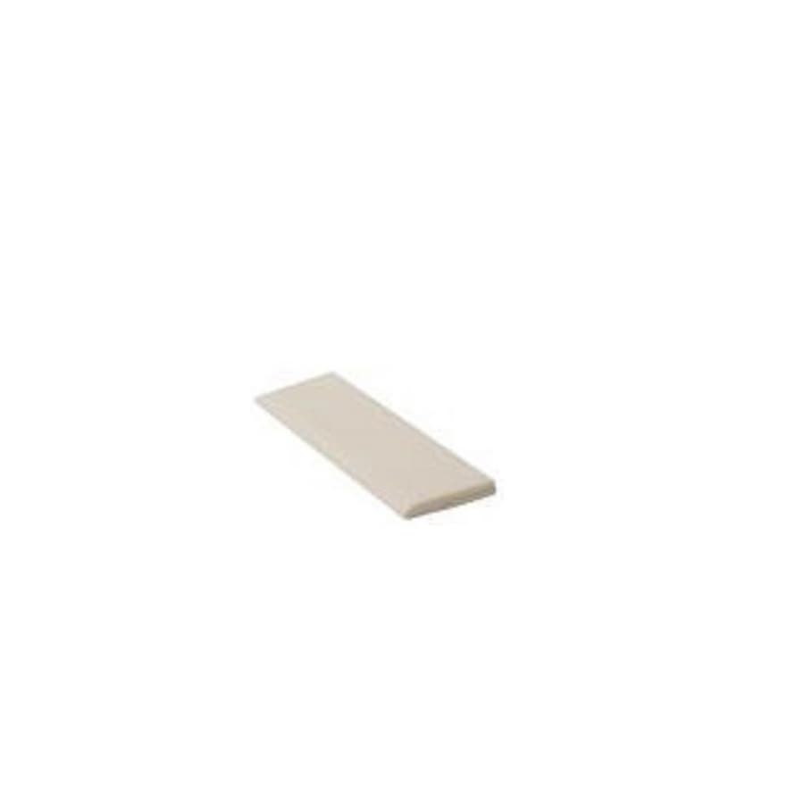 Shop American Olean Starting Line Biscuit Gloss Ceramic Bullnose - Bullnose tile sizes