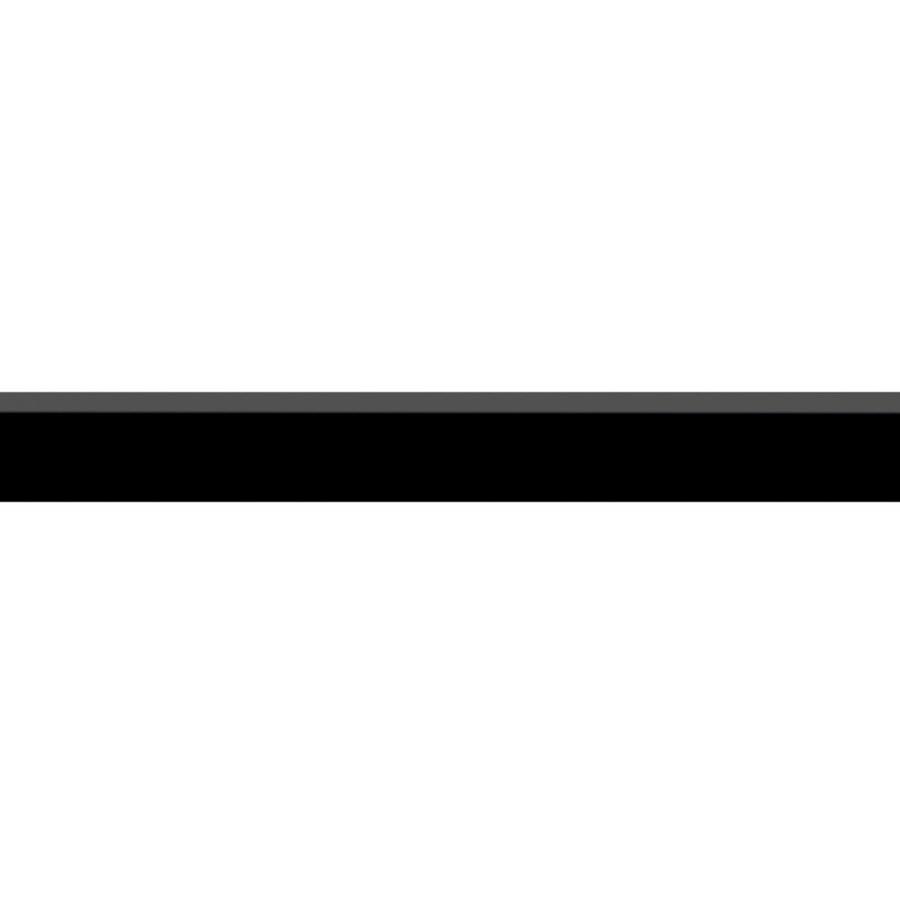 American Olean Linea Gloss Black Ceramic Pencil Liner Tile (Common: 1-in x 6-in; Actual: 0.5-in x 6-in)