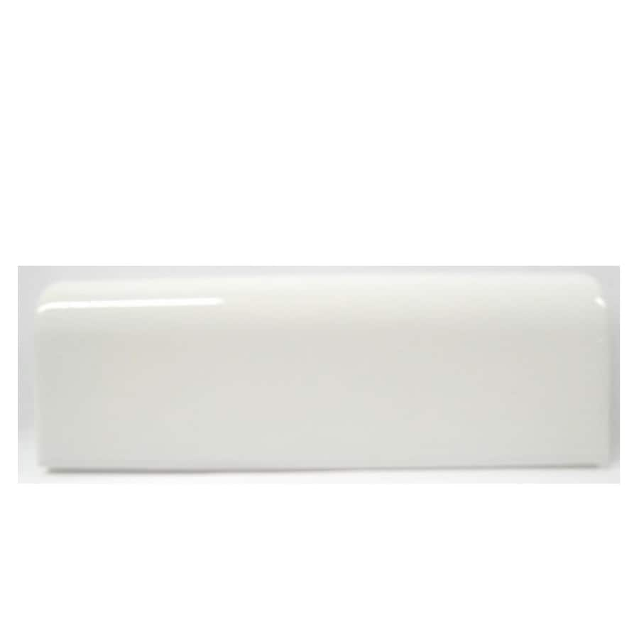 Shop accent trim tile at lowes american olean starting line ceramic mud cap tile common 2 in x 6 dailygadgetfo Images
