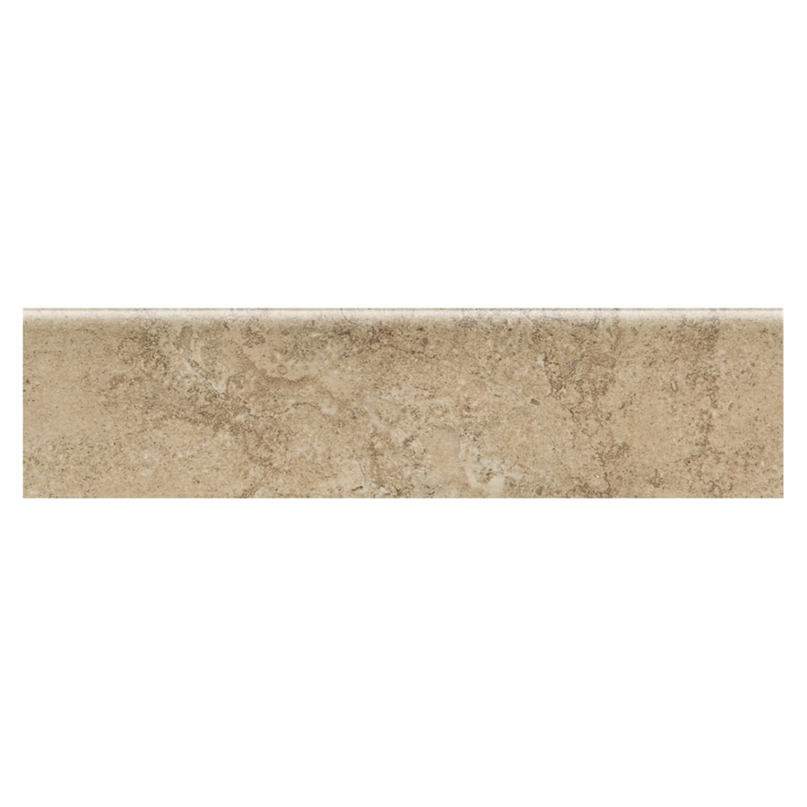 American Olean Chardon Beige Ceramic Bullnose Tile (Common: 3-in x 12-in; Actual: 11.81-in x 2.87-in)