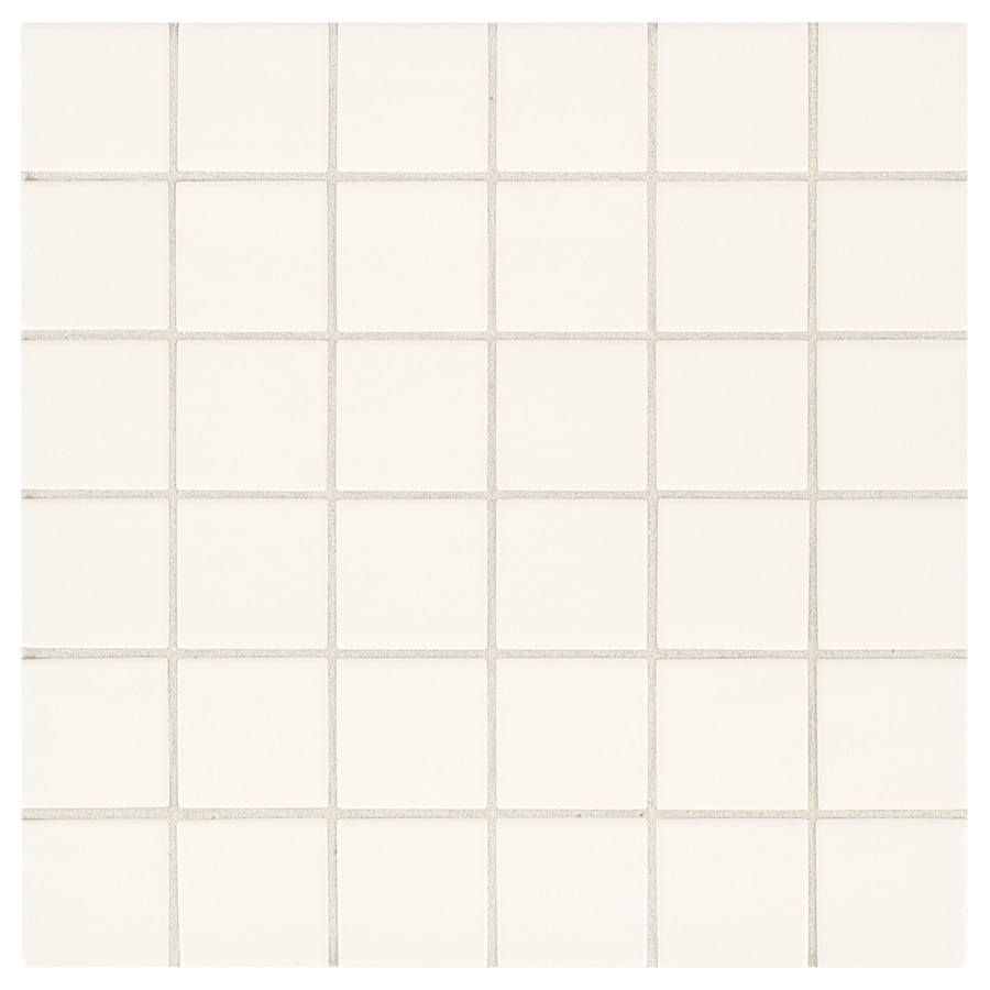 American Olean Weddington White Square Mosaic Ceramic Wall Tile Common 12 In X