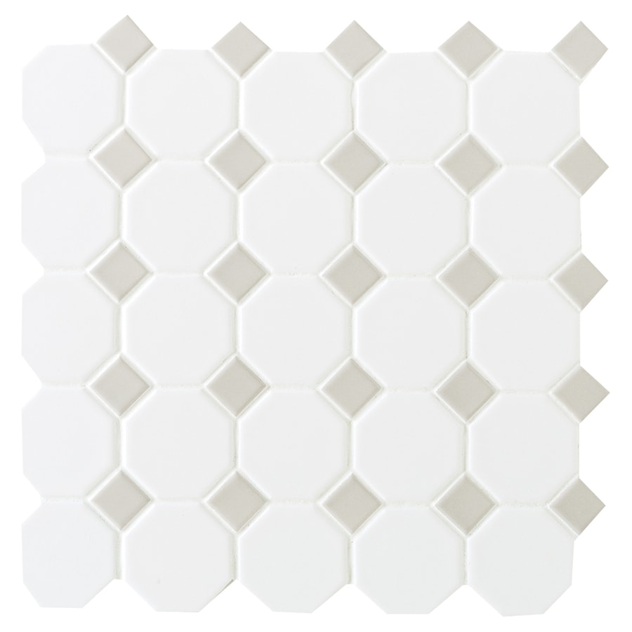 Shop american olean sausalito whitegray honeycomb mosaic ceramic american olean sausalito whitegray honeycomb mosaic ceramic floor and wall tile common dailygadgetfo Gallery