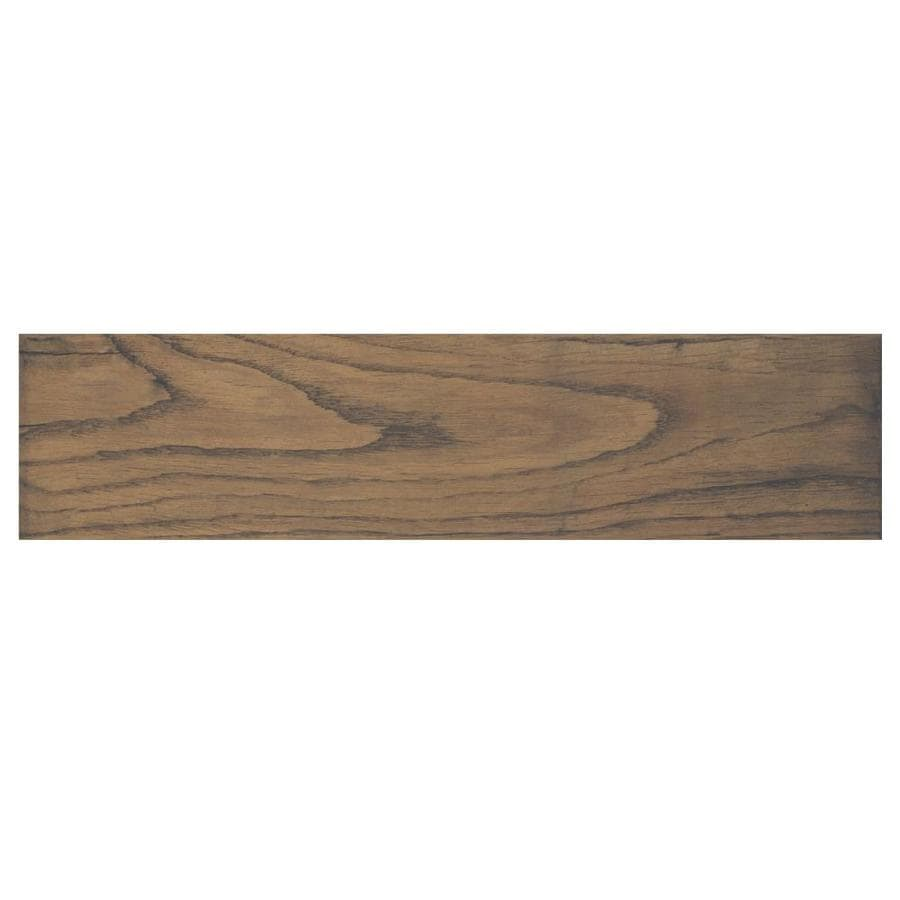 American Olean Cellar Wood Aged Oak Wood Look Porcelain Floor and Wall Tile (Common: 6-in x 24-in; Actual: 23.85-in x 6.06-in)