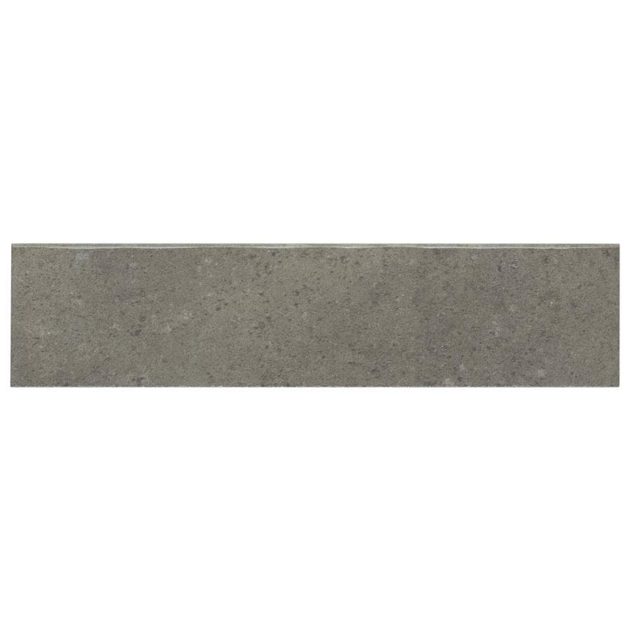 American Olean Lincoln Park Steel Gray Porcelain Bullnose Tile Common 3 In X 12 Actual 11 81 2 93