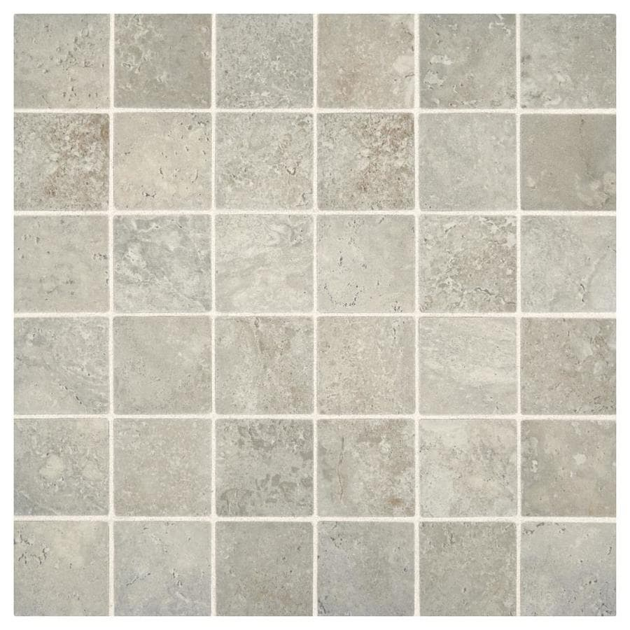 Shop american olean tranquil stone warm gray uniform squares american olean tranquil stone warm gray uniform squares mosaic ceramic floor and wall tile common dailygadgetfo Choice Image