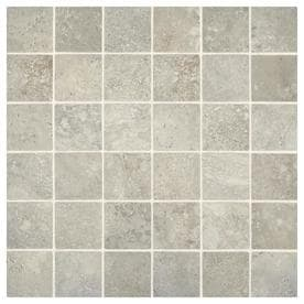 American Olean Tranquil Stone Warm Gray 12-in x 12-in Ceramic Uniform Squares Mosaic Floor and Wall Tile (Common: 12-in x 12-in; Actual: 12-in x 12-in)
