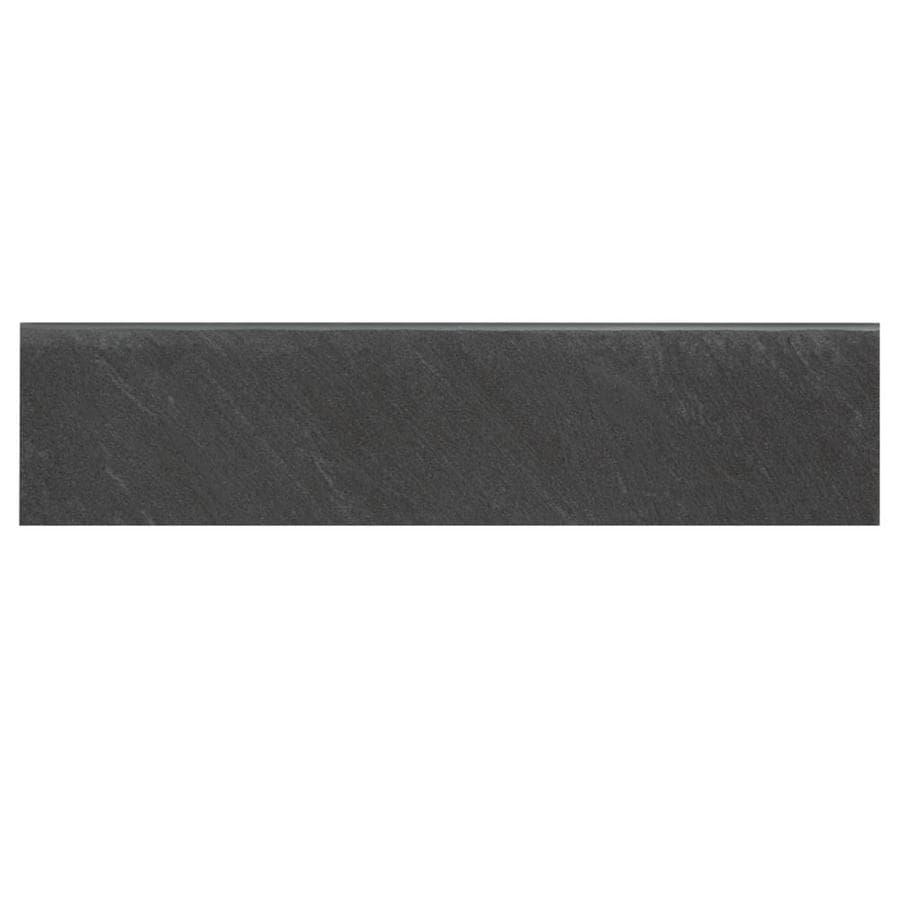 American Olean Carbon Mist Slate Porcelain Bullnose Tile Common 3 In X 12