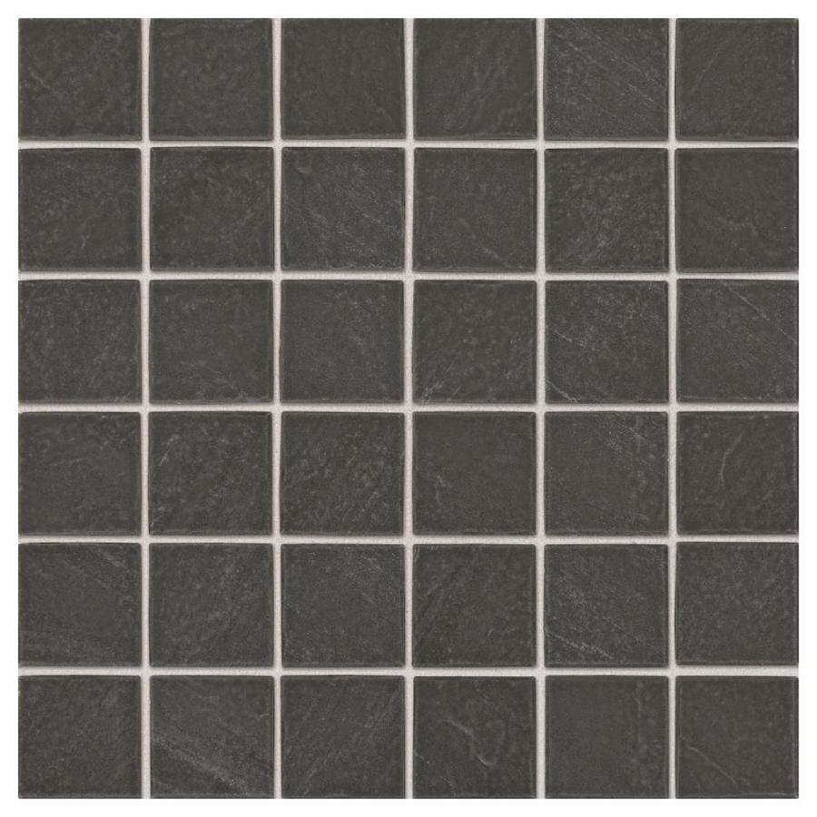 Shop american olean carbon mist slate uniform squares mosaic ceramic american olean carbon mist slate uniform squares mosaic ceramic floor and wall tile common dailygadgetfo Image collections