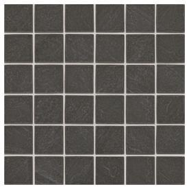 American Olean Carbon Mist Slate 12 In X Ceramic Uniform Squares Mosaic