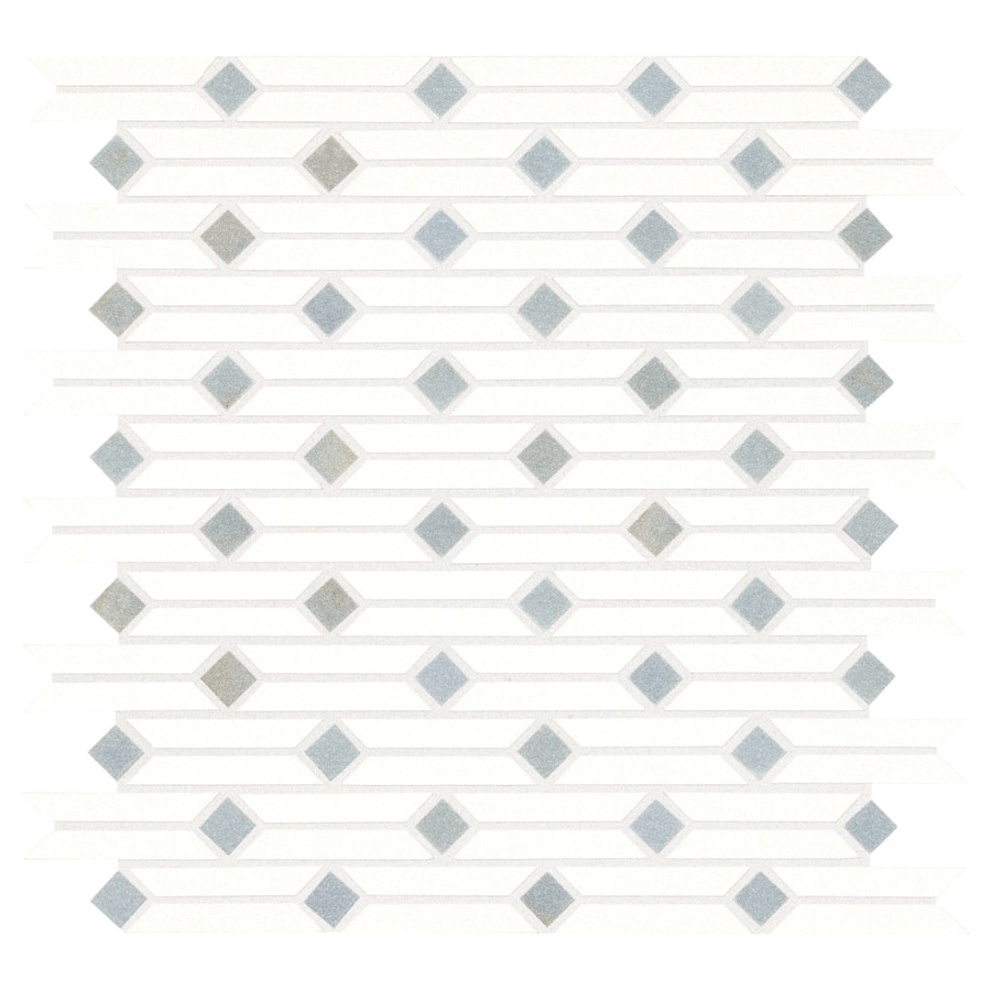 American Olean Delfino Stone White And Blue 12 In X 12 In Linear