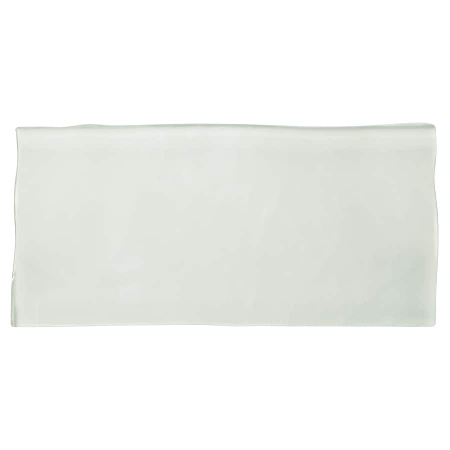 American Olean Handcrafted White Glass Wall Tile (Common: 3-in x 6-in; Actual: 5.94-in x 2.94-in)