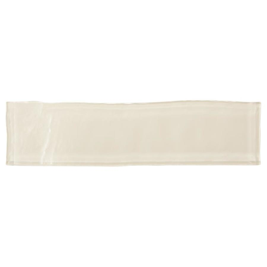 American Olean Handcrafted Glass Cream Glass Wall Tile (Common: 3-in x 12-in; Actual: 11.75-in x 2.94-in)