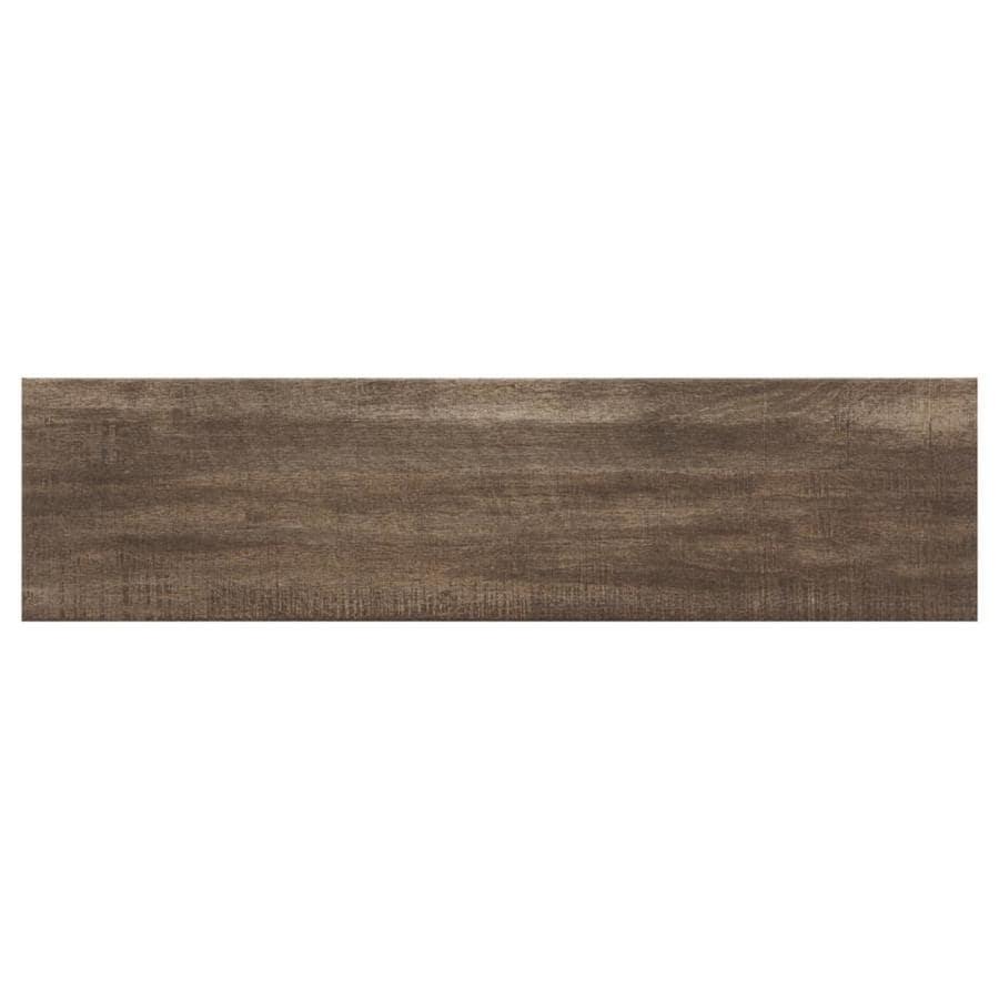 American Olean Woodland Hills Walnut Porcelain Wood Look Floor And Wall Tile Common 6