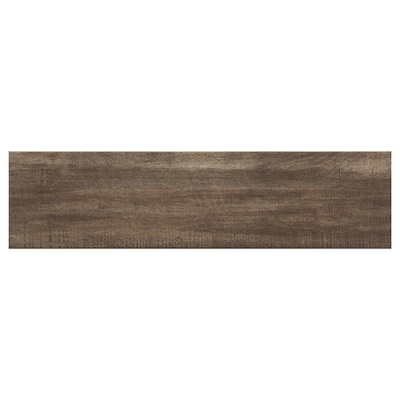 Woodland Hills Walnut 6 In X 24 Porcelain Wood Look Tile Common Actual 06 23 85