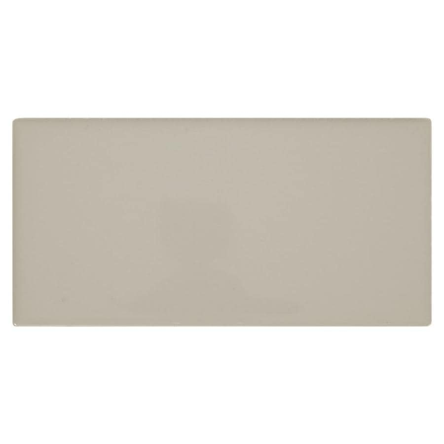 Shop American Olean Starting Line Gloss Gray Ceramic Subway Tile - Best place to buy subway tile