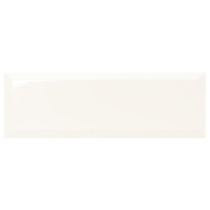 American Olean Starting Line Gloss White 4 In X 12 In