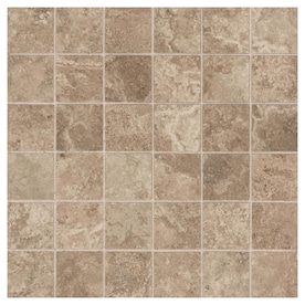 American Olean Grandview Smoke Stone 12-in x 12-in Glazed Ceramic Uniform Squares Mosaic Tile